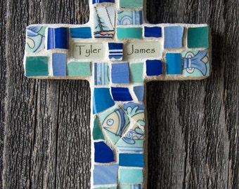 Custom Mosaic Cross With Broken China MADE TO ORDER