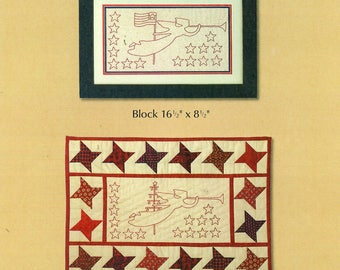 REDWORK ANGELS Patriotic & Christmas Laurene Sinema Designs Embroidery and Quilting Wall Hanging Folk Art