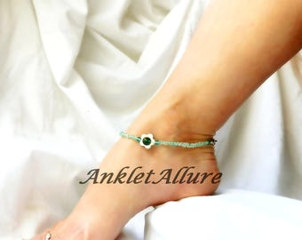 Shell Anklet Beach Flower Ankle Bracelet Body Jewelry Cruise Jewerly Resort Accessories
