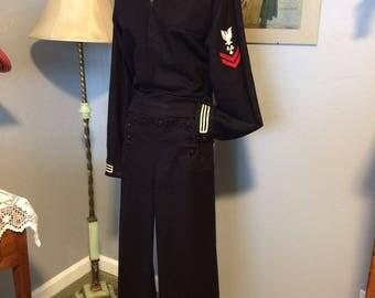 WWII US Navy Vintage Wool Sailor Jumper Suit