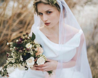 Wedding Dress, Silk Backless, 1930, 1920, Art Deco, Vintage Inspired, CHANDELIER, Long Silk Crepe Ivory
