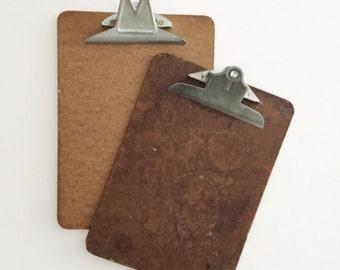 vintage wooden clipboard // message board