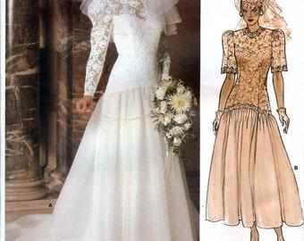 Vogue Bridal Original 1660 Sewing Pattern for Misses' Bridal Dress - Uncut - Size 16 - Bust - 38