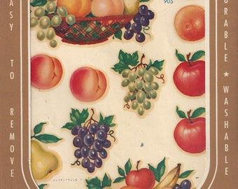 Vintage Meyercord Fruit Decals (905), 1950s
