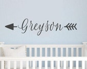 Personalized arrow name Vinyl Lettering wall decals words graphics decal Home nursery childrens kids bredroom sticker  itswritteninvinyl