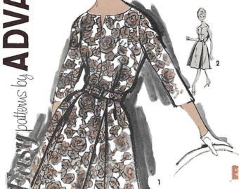 Advance 2799  Misses' 60s Flared A Lined Dress Sewing Pattern Size 18 Bust 38