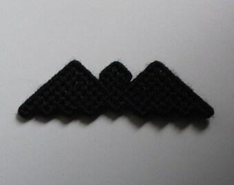 Plastic Canvas Black Bat Magnet   1187