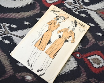 1940s Advance Dress Pattern, #3120, Size 20 (38 Bust, 41 Hip, 32 Waist)