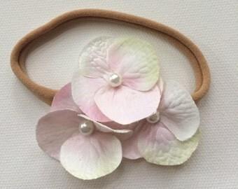 Spring geranium headband