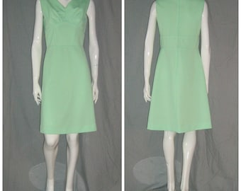 1960s Mint Green Poly Shelf Bust Sexy  Mod Scooter Dress Space age Mini Garage Ska  1960s  70s Girl Group Hipster Sundress VlV