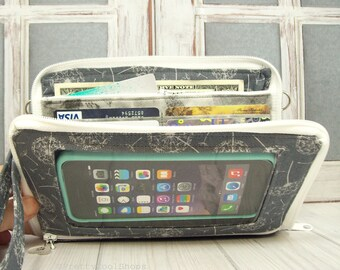 Zip Around Wallet • Clutch Wallet • Women's Wallet • Smartphone Pocket • Cell Phone Wallet • Dandelion • Keep in Touch MEGA Wallet   1b