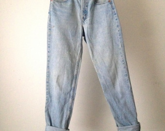LEVI'S vintage distressed 512 high waisted faded JEANS blue jean denim pants