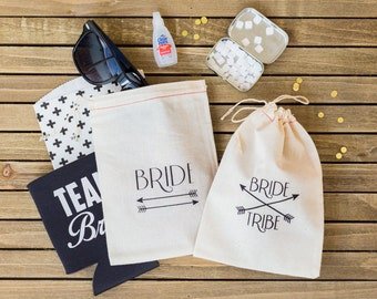 Bride Tribe Hangover Kit Bags - Bachelorette Hangover Kit - Bride Tribe favor bags - Bachelorette Party Favors - Bachelorette Party