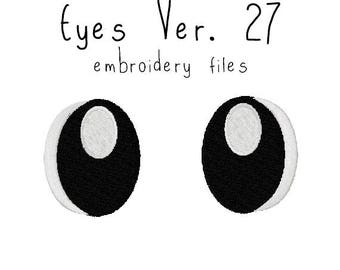 Anime plushie eyes EMBROIDERY MACHINE FILES Instant Download pattern multiple sizes plush design pattern digital ufo catcher nenderoid