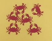 6 Crab Embellishments for Scrapbooking Cards and Paper Crafts Die Cuts Fully Assembled Beach Crabs Crustaceans Seafood