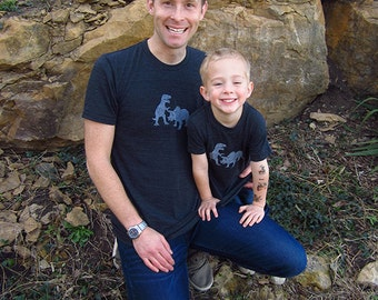 Father Son Matching Dad Father Son Shirts Dinosaur Pair T shirts, Fathers Day Gift new dad shirt father daughter gift for dad Dad Son