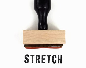 """Mantra Stamp """"Stretch"""" - DIY Packaging Tag Craft One-Word Mantra Snail Mail - Rubber Stamp by Creatiate"""