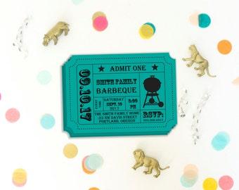 bbq ticket template free - oscar party invitation movie night party movie ticket