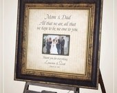 ALL THAT WE Are, Wedding Gifts For Parents, Sign, Frame, Father of The Bride, Mother of The Bride, Reception, Shower, 16 X 16