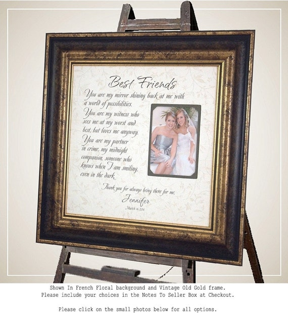 Friendship Picture Frames With Quotes: Personalized Picture Frame For Sisters Best Friend Maid Of