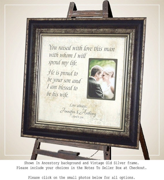 Personalized Wedding Photo Frames For Parents : Personalized Wedding Frame, Parents Thank You Gift, Parents of the ...
