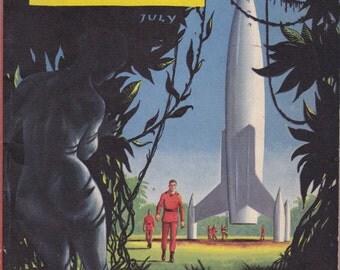The Hypnoglyph- 1950s Vintage Magazine- Fantasy and Science Fiction- July 1953- John Anthony- Phillip K Dick- Pulp Fiction- Paper Ephemera