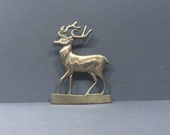 Brass Stag Mantle Figurine Shelf Decoration