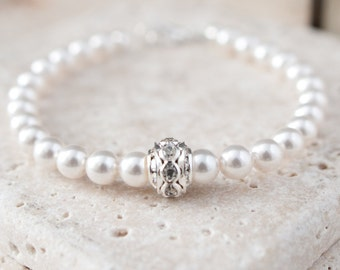 Pearl Bracelet, Wedding Bracelet, Bridal Jewellery, Wedding Accessories, Wedding Jewellery, White Pearl Bracelet, Ivory Pearl Bracelet