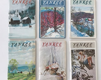Yankee New England's magazine,All 12 issues from 1972, paper ephemera,New England, periodicals, magazine,