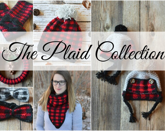Crochet Plaid Patterns Collection Ebook PDF - Digital Download
