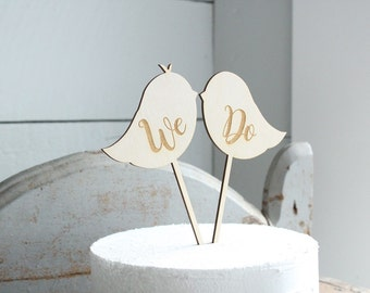 Lovebirds Cake Topper We Do Cake Topper Rustic Wedding