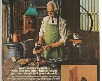 1976 advertentie Hannover iemands schoenen schoenmaker schoenmaker Master leer Makers 70s mode Decor van de kunst van de muur van de Studio van het ambacht van stijl