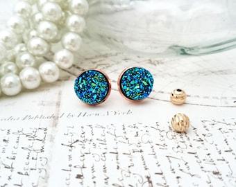 Blue Druzy Earrings - Druzy Resin Earrings, Mix and Match Earrings