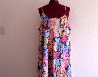 Sale Floral-Print Slip Dress. Plus Size