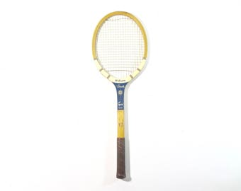 Vintage Tennis Racquet / Wood Tennis Racquet / Vintage Sports decor