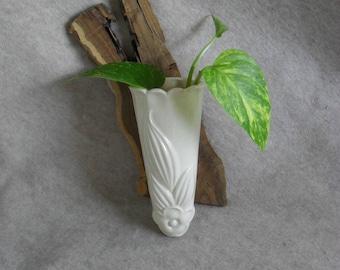 Vintage Ceramic Wall Pocket Flower Vase