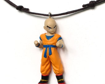 Kuririn - found figure upcycled necklace