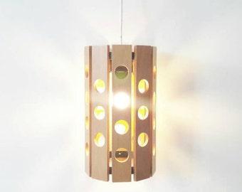 Vintage Wooden Pending Lamp Scandinavian Style