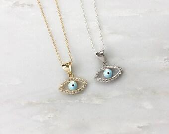 Petite Evil Eye Necklace - Evil Eye Jewelry - Spiritual Necklace