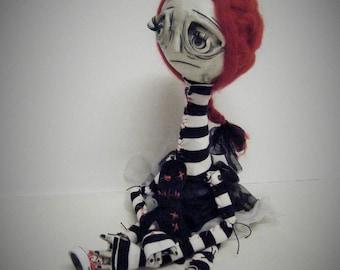 Frankenstein Doll Hand Made Ooak Victorian