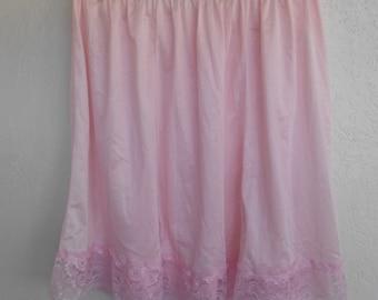 Half Slip Pink Plus Size 3X  Vintage Velrose