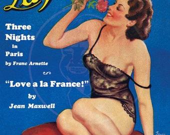 La Paree Stories (Oct 33) - 10x14 Giclée Canvas Print of a Vintage Magazine Cover