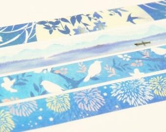 Indigo dye - Japanese Washi Masking Tape - 7.6 Yard - 1 roll
