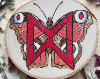 Rune Elder Futhark Dagaz Butterfly Heathen Asatru Pyrography Watercolor Altar Pagan Witch Divination Runes Viking Norse Germanic Occult