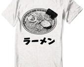 Ramen T-shirt Japanese katakana kanji Food - Men - Women sizes -  Hand Screenprinted