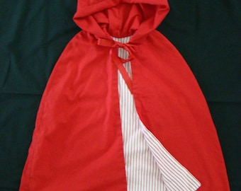 Child's Little Red Riding Hood Cape