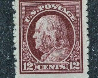 US stamp #512 MNH Ben Franklin 12 cent 1917