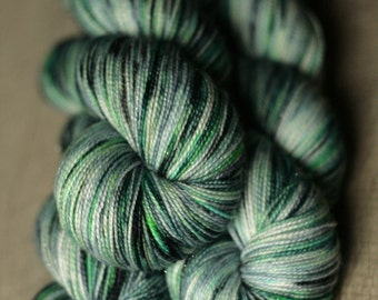"Sock yarn - 75/20/5 SW Merino/Nylon/Stellina - Autocorrect - ""Let's FartTime"""