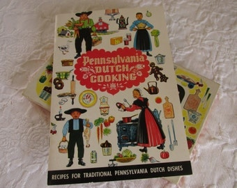 Vintage Pennsylvania Dutch Note Cards/Traditional Cookbook/Conestoga Crafts 1982/Dutch Pantry Recipes/Souvenirs/Country Cottage