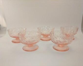 Vintage Pink Dessert Dishes
